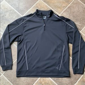 Cutter and buck 1/4 zip black polo size large
